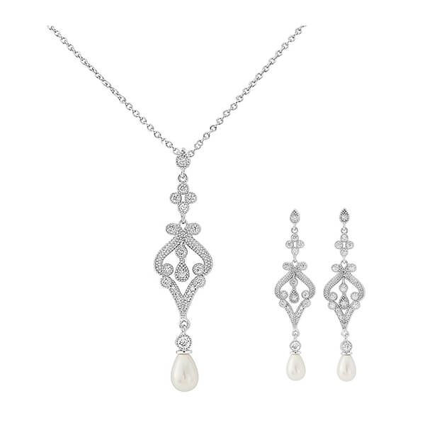 Art Deco Vintage Style Bridal Jewellery Set Vintage Bridal